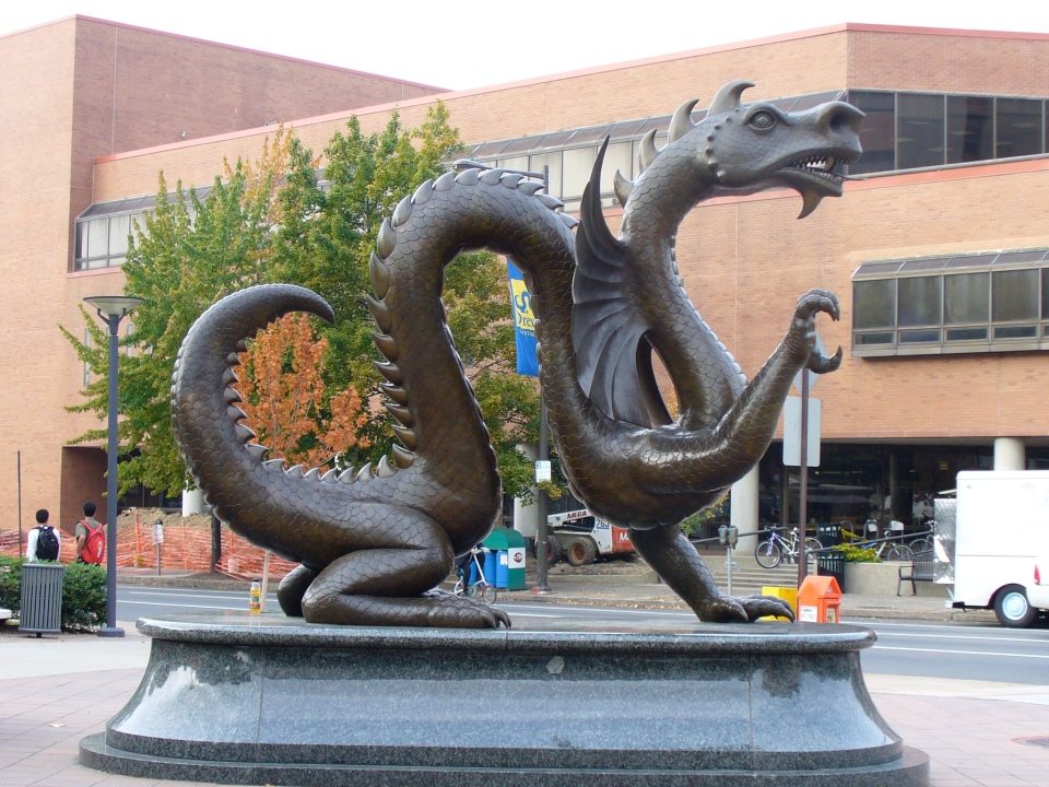 drexel university dragon statue